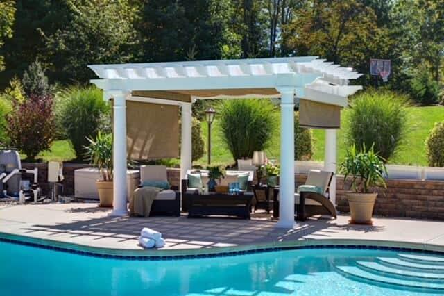 Pergola Installation by pool